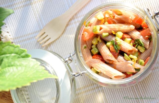 Pasta di Farro con verdure estive_1