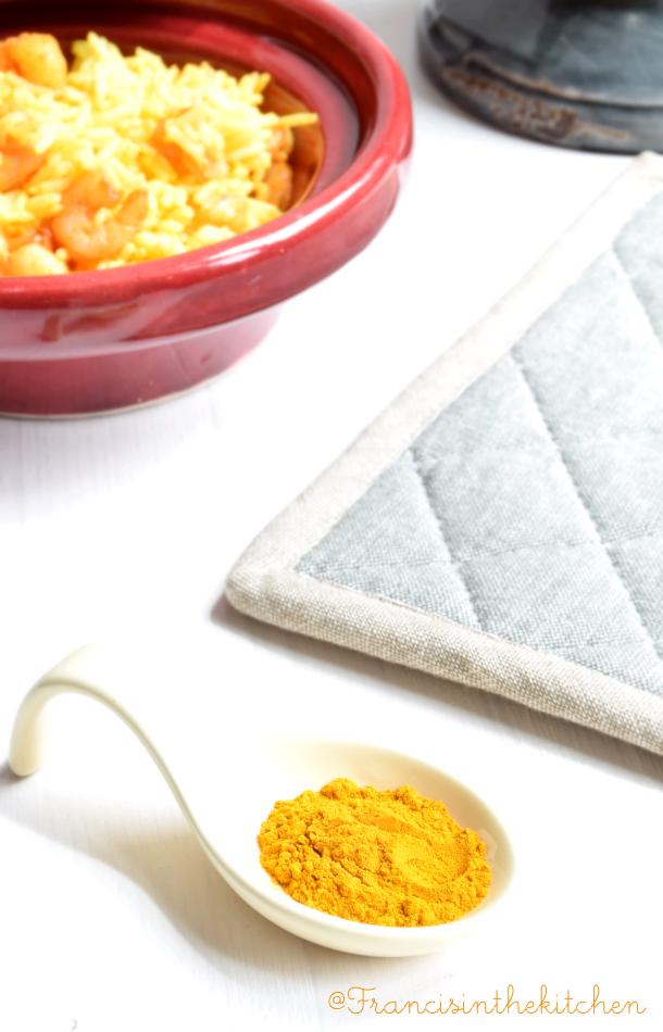 Riso Basmati al curry con gamberetti