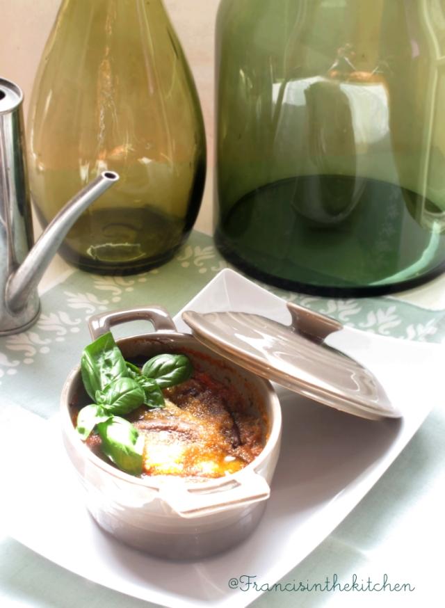 Parmigiana di Melanzane con pesto